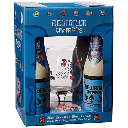 Delirium Tremens Gift Pack with Glass, 4 x 330 ml